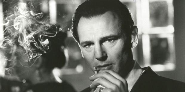 In Schindlers List, Liam Neeson portrays Oskar Schindler, a German industrialist who, at great personal risk, protected the lives of more than 1.100 Jewish workers in Nazi-occupied Poland.