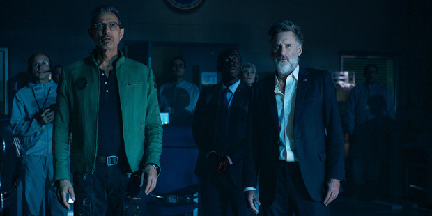 A scene from the movie, Independence Day Resurgence starring Jeff Goldblum.