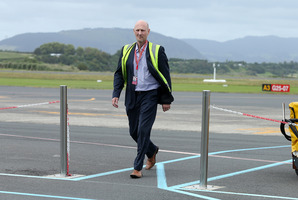 Kiwi Air chief executive Ewan Wilson at the launch of the First Kiwi Regional Airlines flights from Tauranga to Nelson
