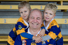 Greg Rowlands with his grandsons Flynn, 4, left, and Reid, 3. Photo / Alan Gibson