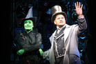 Jay Laga'aia as the Wonderful Wizard Of Oz and Gemma Rix as Elphaba in New Zealand production of Wicked. Photo / Chris Gorman