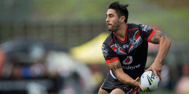 Shaun Johnson in action for the Warriors. Photo / Jason Oxenham
