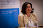 Education Minister Hekia Parata praised the school for its student support. Photo / Dean Purcell