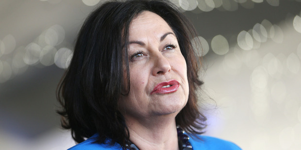 """Hekia Parata said she understood the school's disappointment, but it was """"not true that I have been trying to close the school since 2012"""". Photo / Doug Sherring"""