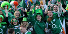 Irish fans are all smiles after getting more than their fair share of tickets to the test match against the All Blacks. Photo / Alan Gibson
