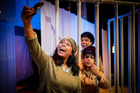 Vanessa Kumar, Nisha Madhan and Jonathon Price star in Indian Ink's latest production The Elephant Thief. Photo / Supplied