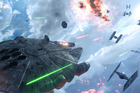 A scene from the video game Star Wars Battlefront.