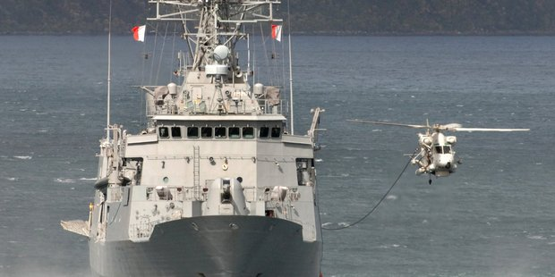 The  Weekend Herald  understands Australian Police searched the HMNZS Te Kaha with sniffer dogs on Tuesday while the ship was docked at Cairns. Photo / Otago Daily Times