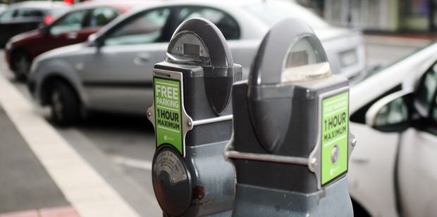 The Hastings' CBD free parking trial has been extended for six months. Photo / Paul Taylor