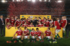 The Lions celebrate their victory during the International Test match in 2013. Photo / Getty Images