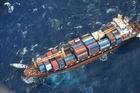 The Southern Lily container ship has rendezvoused with the stricken yacht Platino. Photo /NZDF