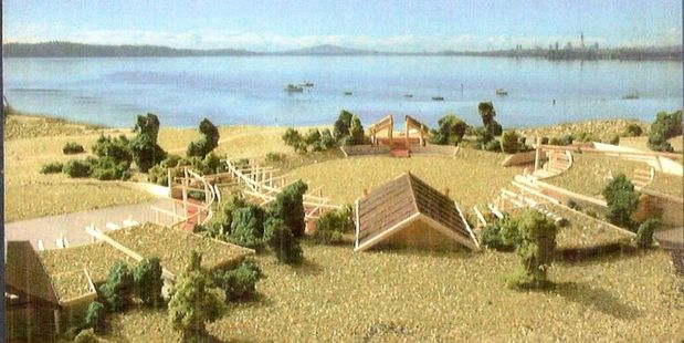 An artist's rendition of the Te Atatu Marae to be constructed. Photo / supplied.