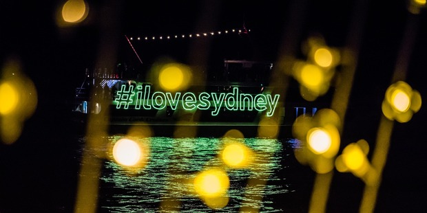A crowd favourite from Vivid Sydney is Cathedral of Light. Photo / Destination NSW