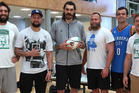 Some of the All Blacks joined Steven Adams for a shootout in Wellington today. Photo / Instagram