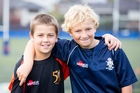 Harris (left) and James were both diagnosed with and beat leukaemia as preschoolers. Carmen Bird Photography