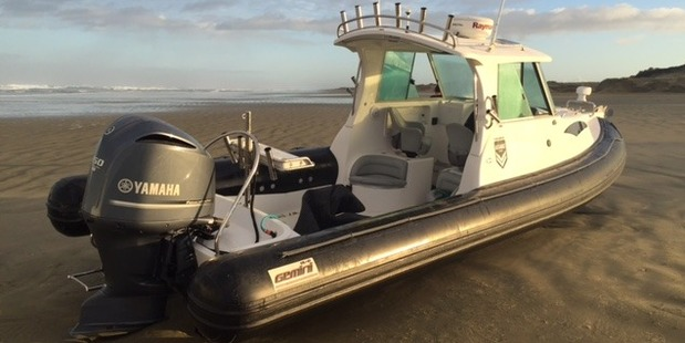 The abandoned boat on 90 Mile Beach that led to the record-breaking methamphetamine haul.