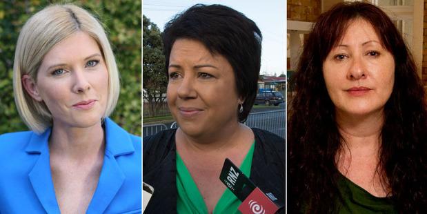 Loading From left: journalist Rebecca Wright, Social Housing Minister Paula Bennett and press secretary Lucy Bennett.