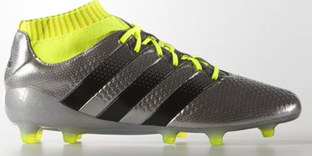 The Addias ACE 16.1 Primeknit Firm Ground Boots.