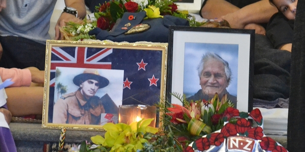 AT REST: Mourners watching over Charlie Petera at Wai Ora Marae before Tuesday's funeral. PICTURE/DEBBIE BEADLE