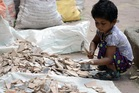 There are an estimated there are 150 million children engaged in child labour around the world.