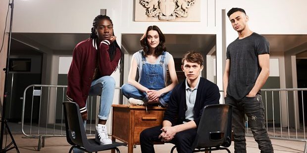 The cast of the new BBC Doctor Who spinoff, Class. Photo / BBC