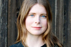 Author Emma Cline and the US cover of her new novel, The Girls. Images/ supplied