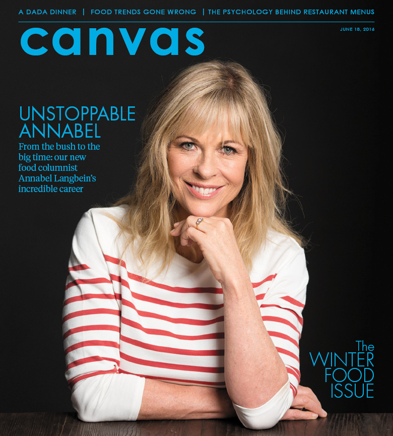Annabel Langbein on the cover of tomorrow's new-look Canvas magazine.