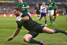 Ryan Crotty scores to deny Ireland a famous win over the All Blacks in 2013. Photo / Getty