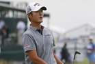Danny Lee on course at the US Open. Photo / AP