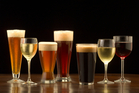Many people think beer and wine are packed full of sugars, but this is not quite true. Photo / iStock