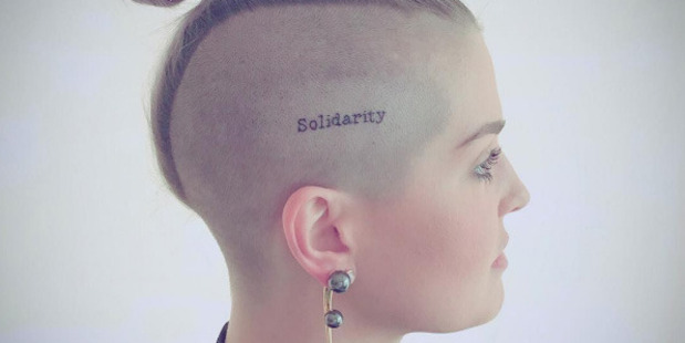 Kelly Osbourne's new ink, to mark the Orlando tragedy. Photo / Instagram