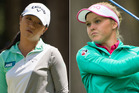 Lydia Ko, left, and Brooke Henderson, the 18-year-old who denied her a third consecutive major. Photos / Getty Images