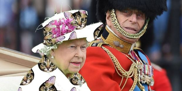 Social media users noted the Queen's colour choice closely resembles that of a green screen used by film makers. They responded accordingly. Photo / Twitter