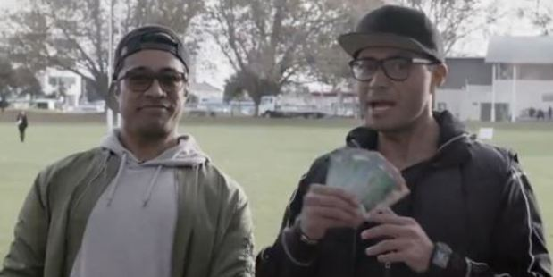 Flava radio show hosts Pua Magasiva and Sela Alo helped celebrate the day. Photo / Supplied