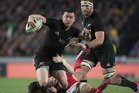 All Blacks midfield back Ryan Crotty in action against Wales. Photo / Brett Phibbs
