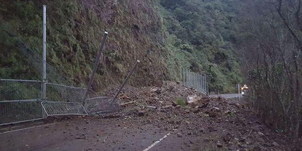 The slip on the Waioeka Gorge, SH2. Photo / Supplied