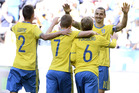 Sweden face a big clash against Italy. Photo / AP