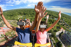 Six Flags has several virtual reality coasters opening in parks across the country this year. Photo / Six Flags America handout photo