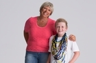 Jock Davies, pictured with his mother Sarah, is a leukaemia survivor and is an ambassador for the event. Photo / Supplied