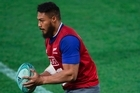 George Moala training at Forsyth Barr Stadium 23 june 2016