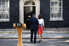 David Cameron and his wife Samantha return to Downing Street after his resignation speech following the Brexit vote. Photo / Bloomberg