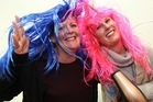 Child Cancer Foundation family support co-ordinator Shannyn Hansen, left, and business development manager Hawke's Bay Vicky Rope are prepared for a fun-filled Wig Wednesday. Photo / Warren Buckland