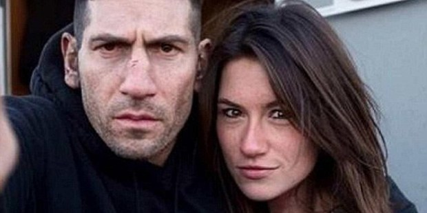 Holly Dillon, pictured with Daredevil actor Jon Bernthal. Photo / Facebook