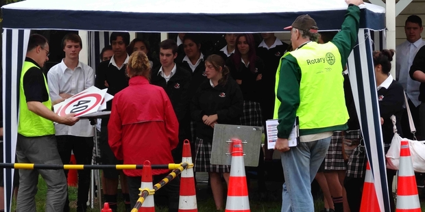 Makoura College students attended Wairarapa's Rotary Youth Driver Awareness Programme in February. PHOTO/SUPPLIED