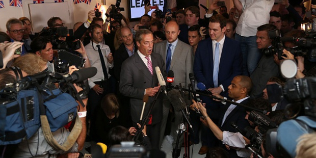 Loading UK Independence Party leader Nigel Farage says the genie is out of the bottle.