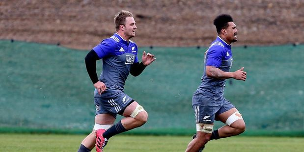 Loading One-time All Black captain Sam Cane and new addition Ardie Savea. Photo / Getty Images