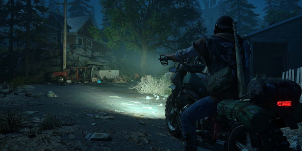Screenshot from the PS4 zombie game Days Gone.
