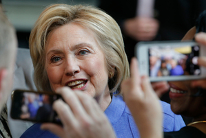 Democratic presidential candidate Hillary Clinton has obvious weaknesses including high unfavourability ratings. Photo / AP