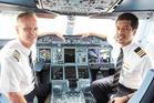Captain Thomas Ziarno and First Officer Abdulrahman Mohamed Al Busaeedi.