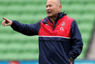 Eddie Jones, the England head coach, issues instructions during the England Captain's Run. Photo / Getty Images.